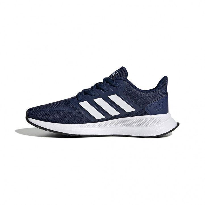 Zapatillas deporte Adidas azul con cordones runfalcon - Querol online