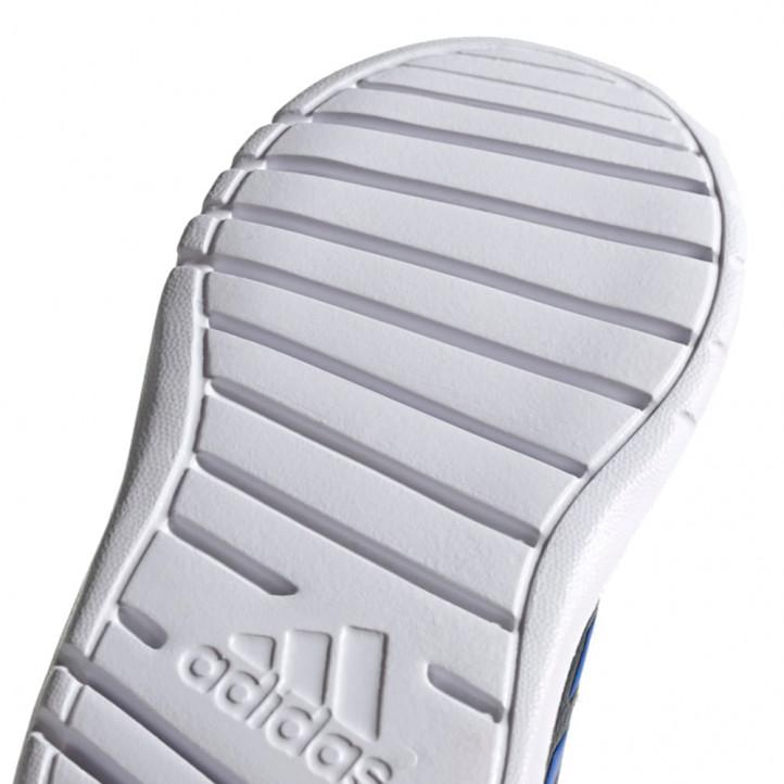Zapatillas deporte Adidas azul marino, naranja con dos velcros - Querol online