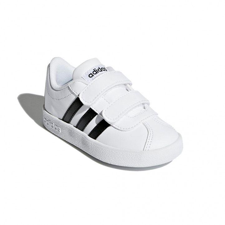 Sabatilles esport Adidas blanques i negres court - Querol online