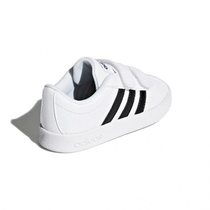 Zapatillas deporte Adidas blancas y negras court - Querol online