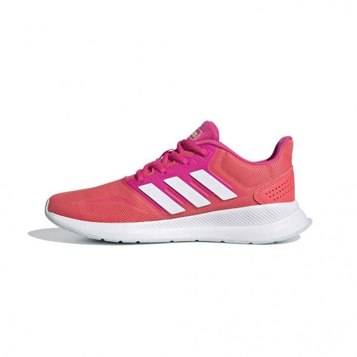 Zapatillas deporte Adidas rojas y rosas con cordones - Querol online