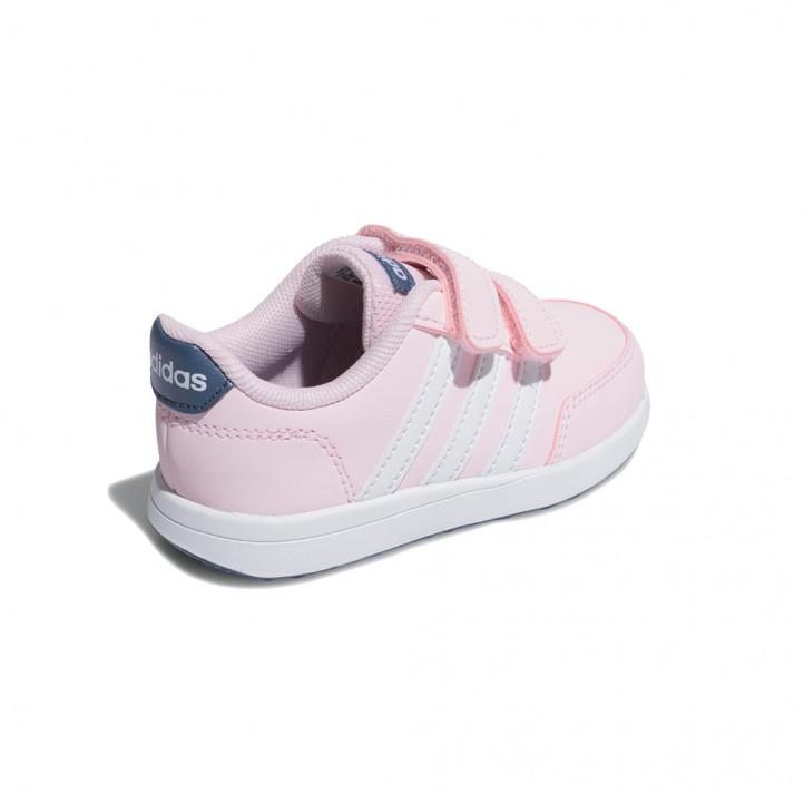 Zapatillas deporte Adidas rosa con detalles en blanco y azul marino - Querol online