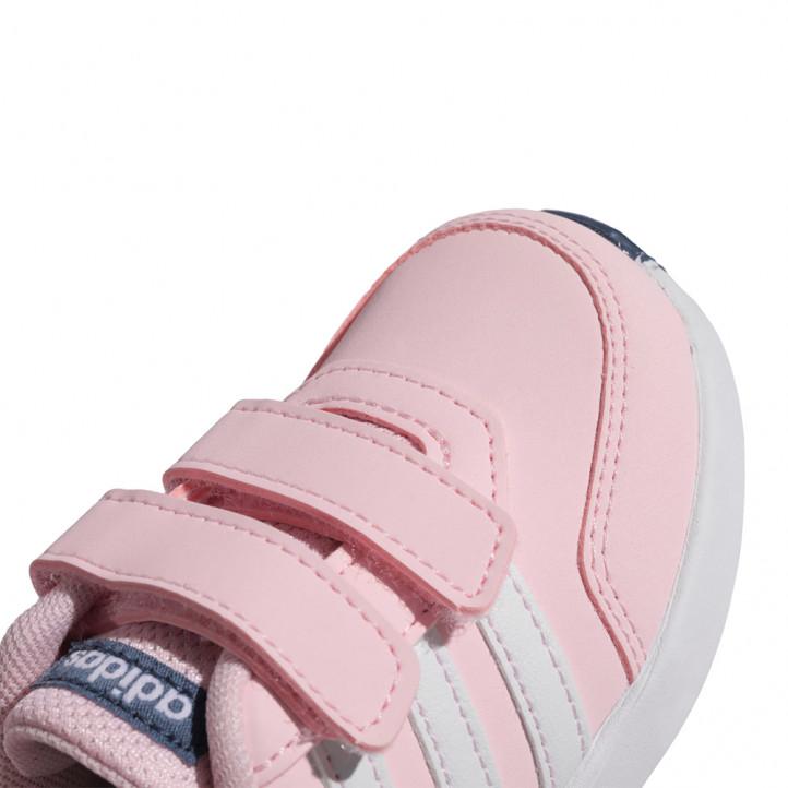 Sabatilles esport Adidas rosa amb detalls en blanc i blau marí - Querol online