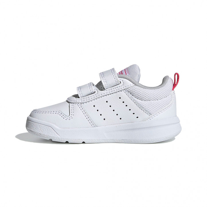 Sabatilles esport Adidas blanques amb ratlles roses i dos velcros - Querol online
