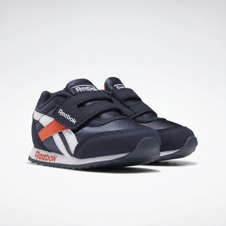Zapatillas deportivas Reebok azul marino con detalles en blanco y naranja royal - Querol online