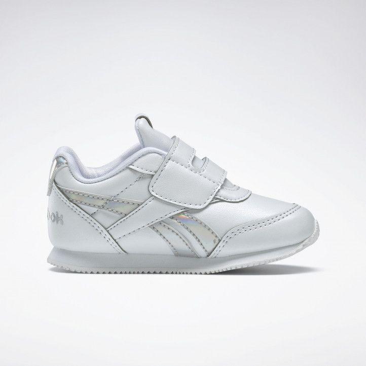 Zapatillas deporte Reebok blancas con logo metalizado - Querol online