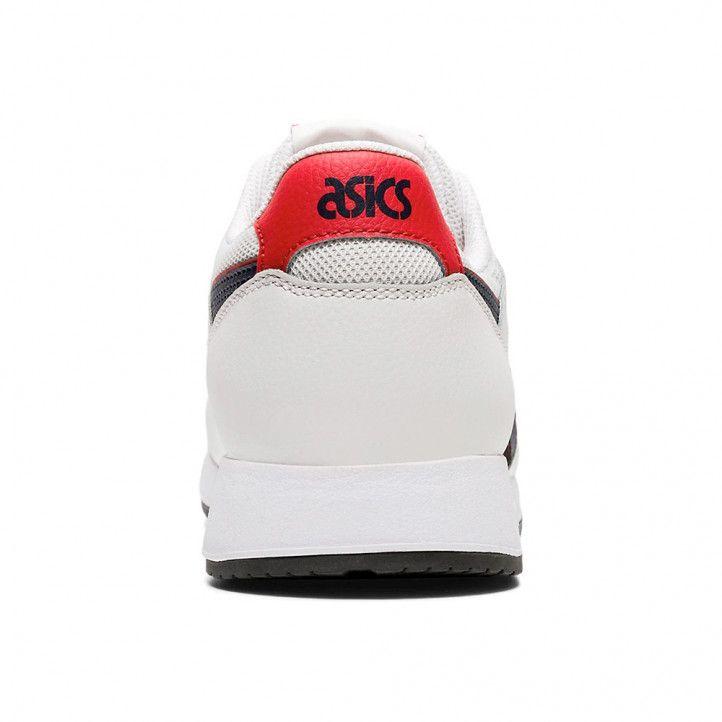 Zapatillas deportivas Asics LYTE CLASSIC blancos con logo en negro y detalles en rojo - Querol online