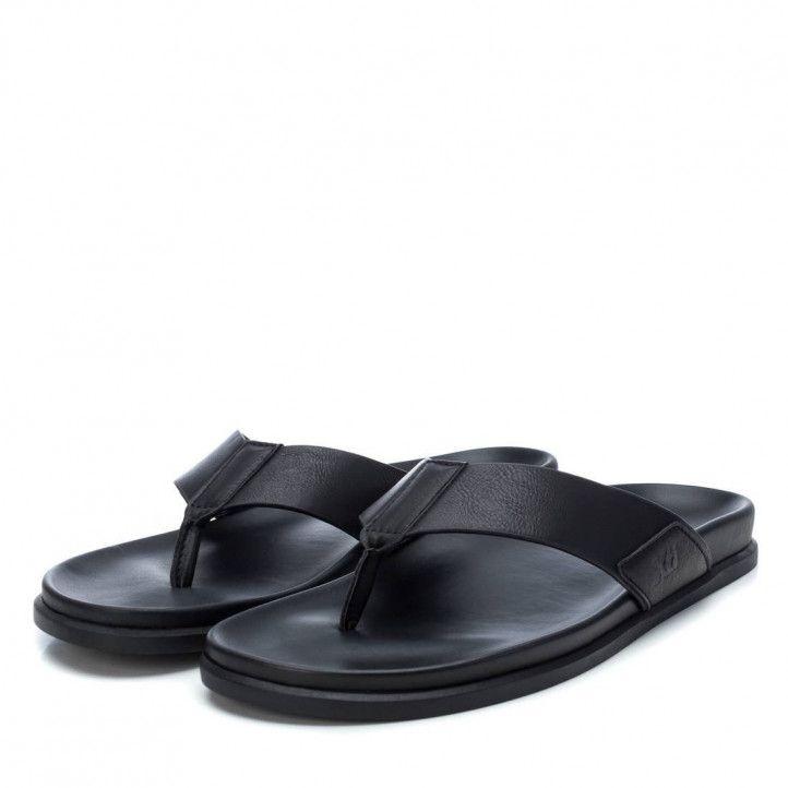 Sandalias Xti abiertas de dedo negras - Querol online