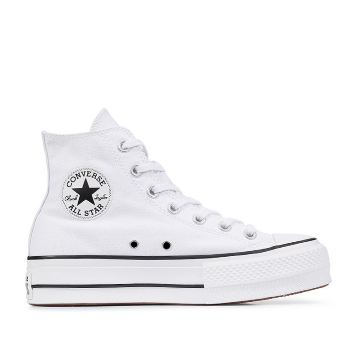 Sabatilles lona Converse chuck taylor all star lift high top blanques