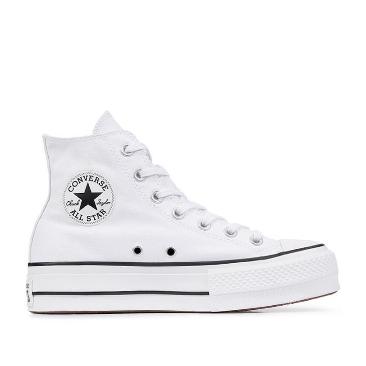 Zapatillas lona Converse chuck taylor all star lift high top blancas - Querol online