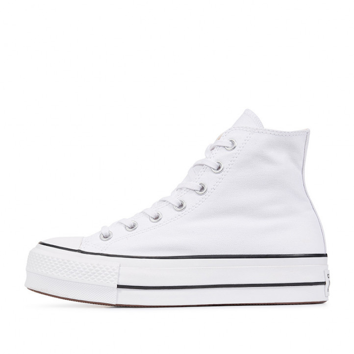 Sabatilles lona Converse chuck taylor all star lift high top blanques - Querol online