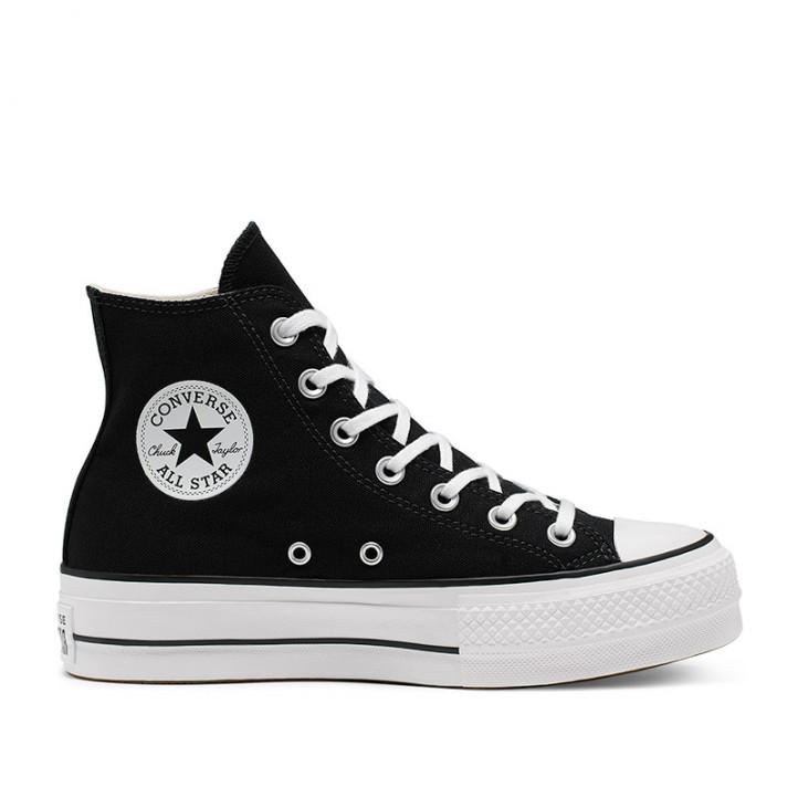 Sabatilles lona Converse chuck taylor all star lift high top negres - Querol online