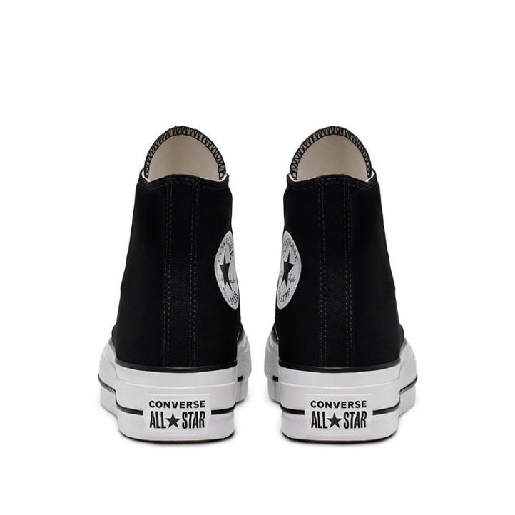 Zapatillas lona Converse chuck taylor all star lift high top negras - Querol online