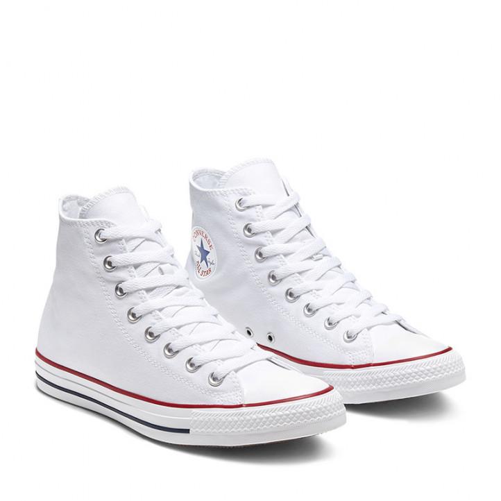 Zapatillas lona Converse chuck taylor all star blancas altas - Querol online