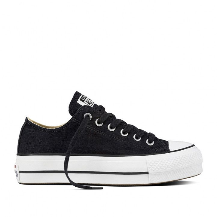 Sabatilles lona Converse chuck taylor all star platform canvas low top negres
