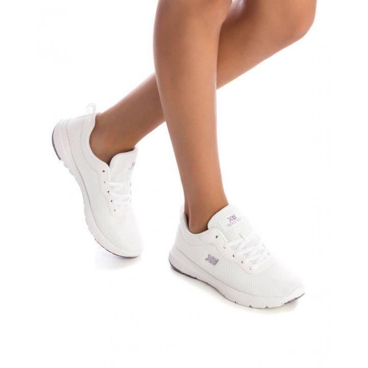 Zapatillas deportivas Xti blancas de malla - Querol online