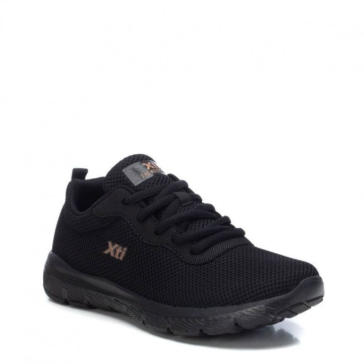 Zapatillas deportivas Xti negras de malla - Querol online