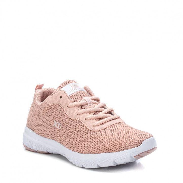 Zapatillas deportivas Xti rosas de malla - Querol online