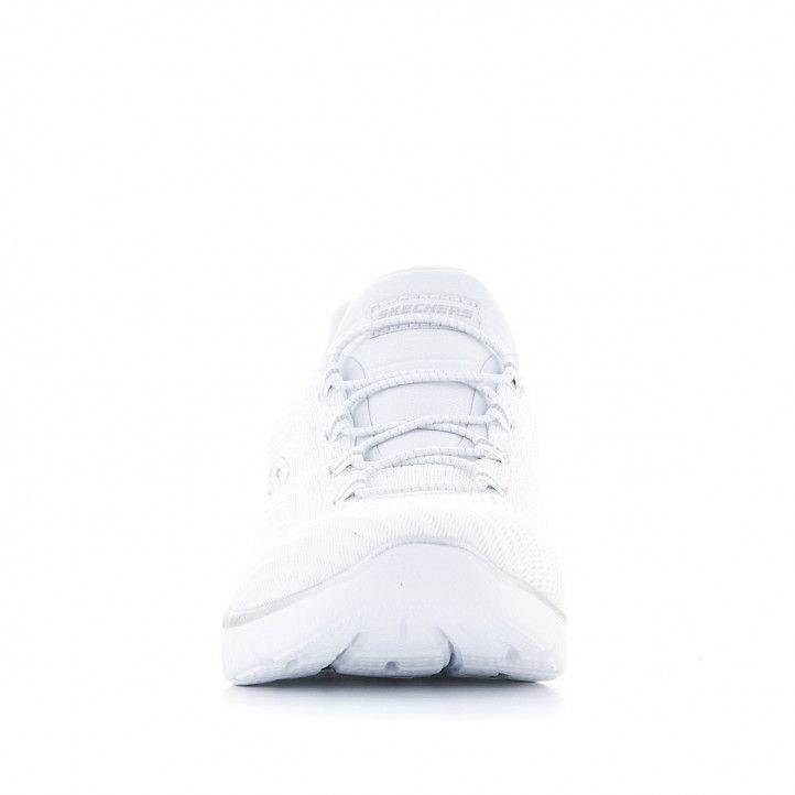 Zapatillas deportivas Skechers Summits Leopard Spot blancas - Querol online