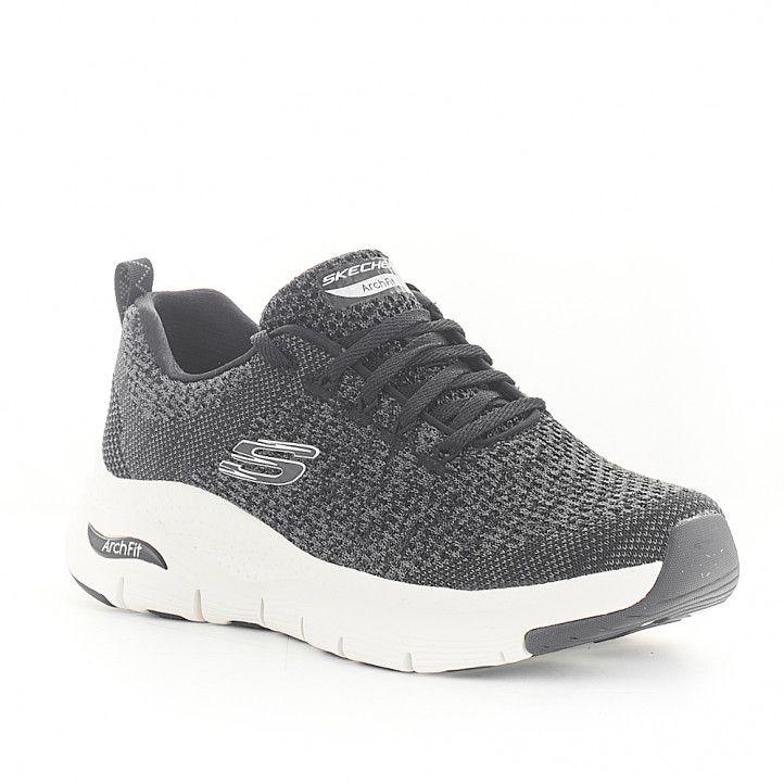 Zapatillas deportivas Skechers arch fit negra - Querol online