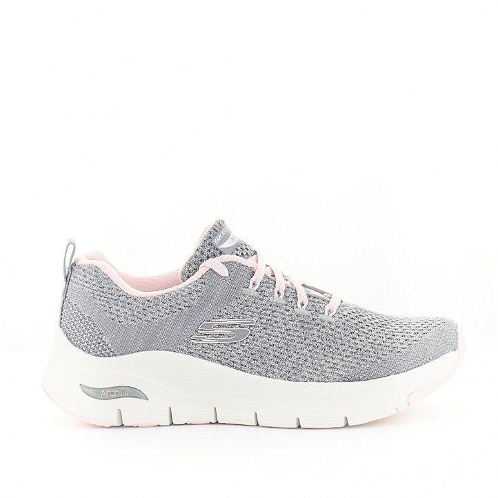 Zapatillas deportivas Skechers arch fit gris - Querol online