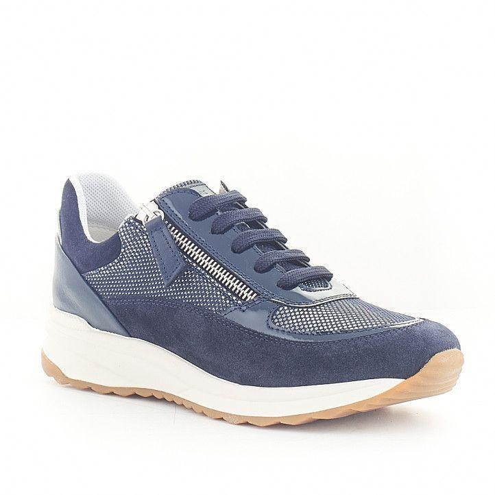 Zapatillas Geox diferentes texturas y cremallera lateral - Querol online