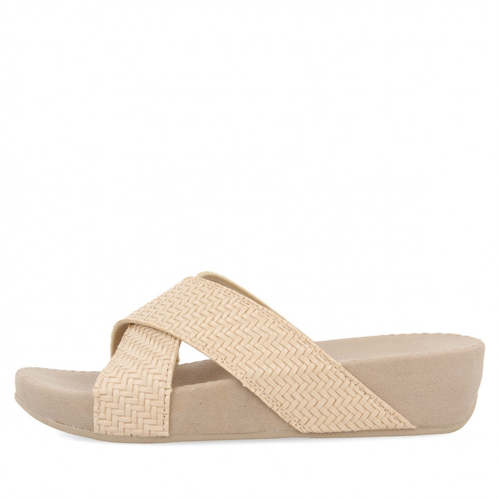 GIOSEPPO CHANCLAS BEIGE PARA MUJER LESTER - Querol online