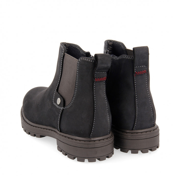 GIOSEPPO NAVY BLUE ANKLE BOOTS CHELSEA STYLE FOR BOY NICHEL - Querol online