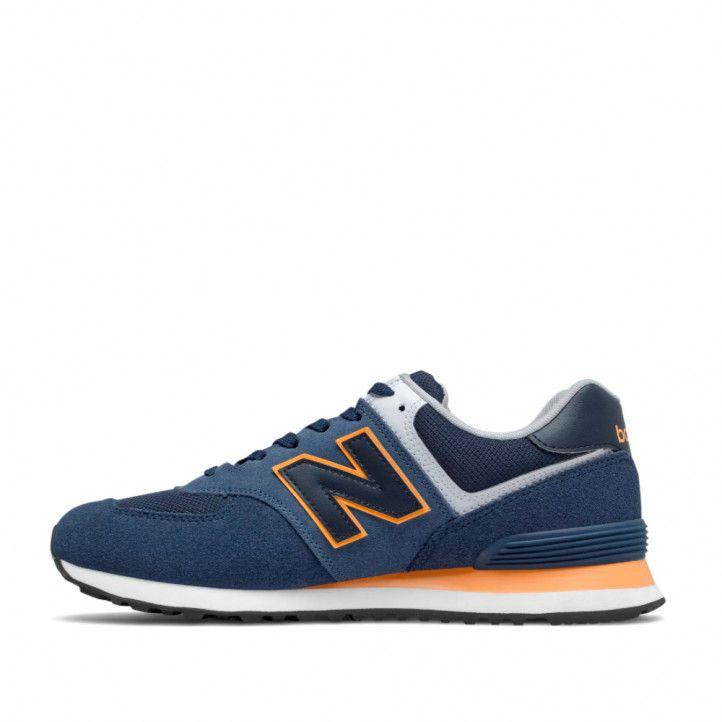 Zapatillas deportivas New Balance 574 natural indigo with habanero - Querol online