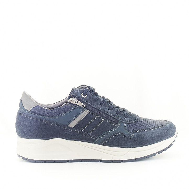 Zapatos sport Imac azules con cremallera lateral - Querol online
