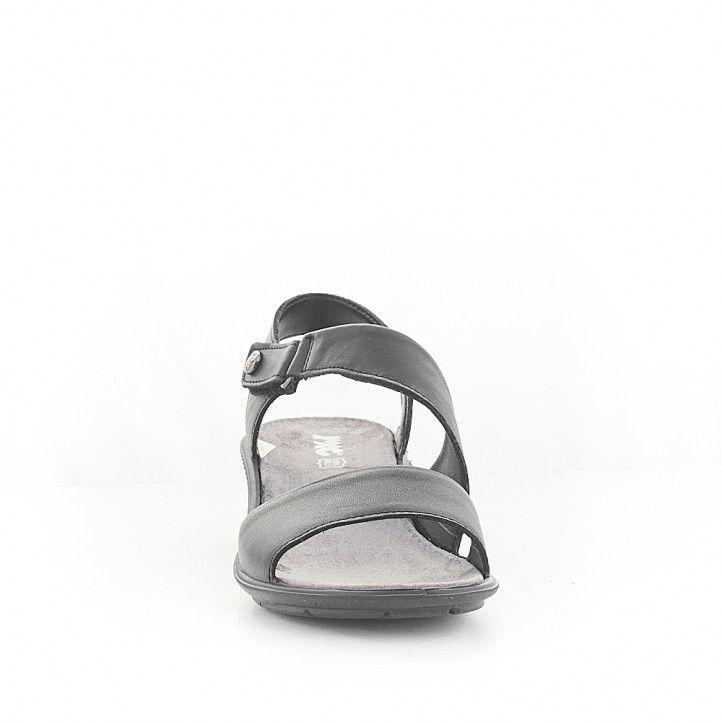 Sandàlies falca Imac negres agafades al turmell - Querol online