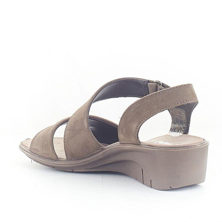 Sandàlies falca Imac marrons grisenques agafades al turmell - Querol online