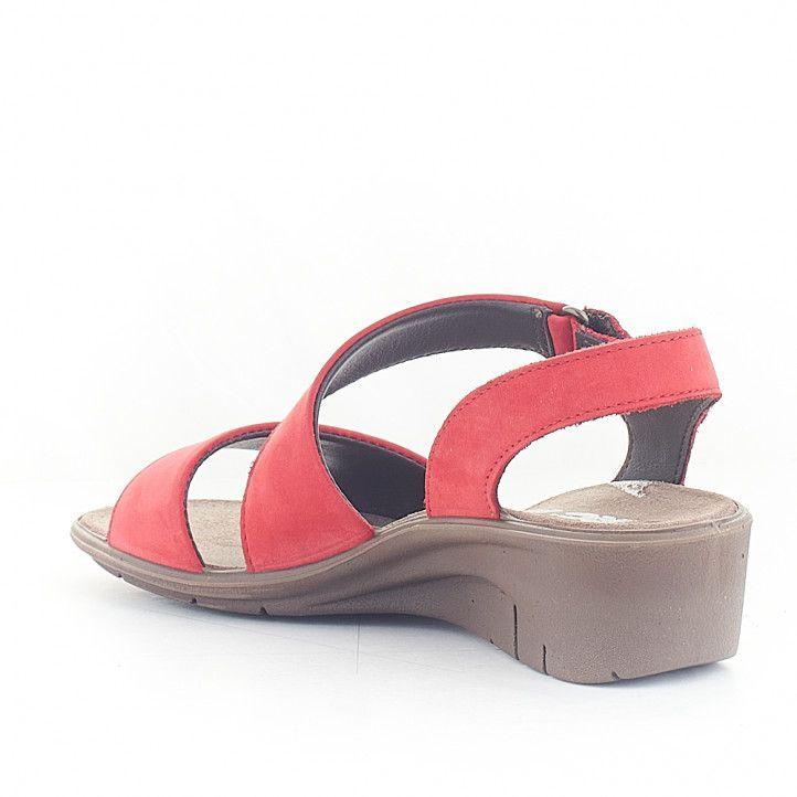 Sandàlies falca Imac vermelles agafades al turmell - Querol online