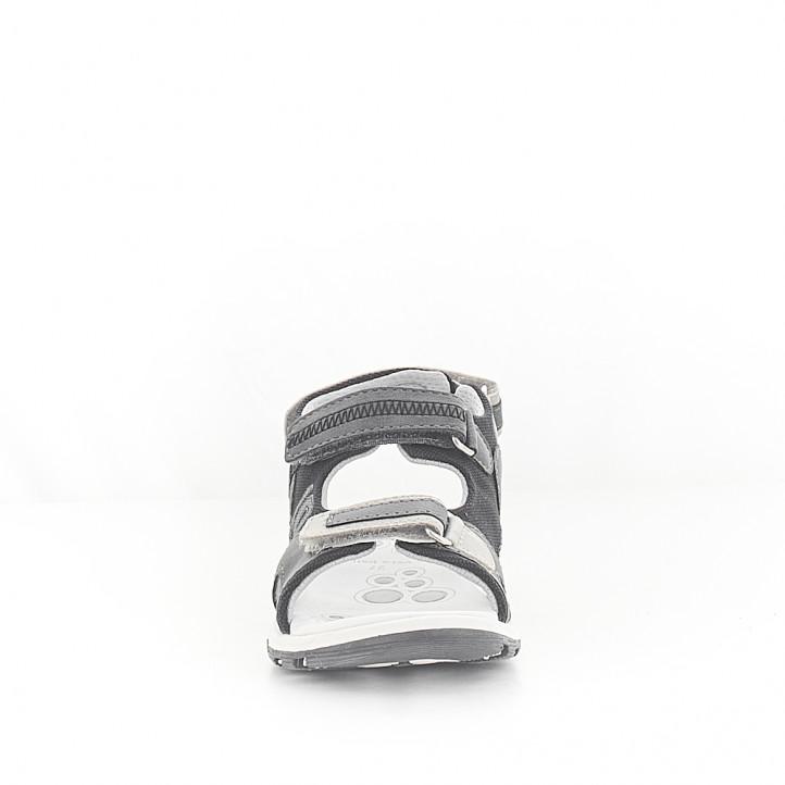 sandalias Chicco con combinación de varios grises - Querol online