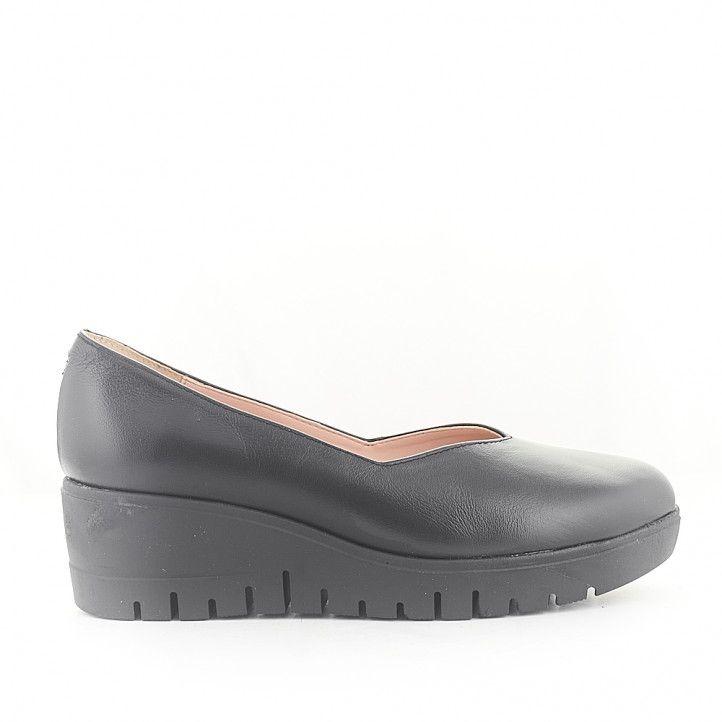 Zapatos cuña Redlove malala con interior rosa - Querol online