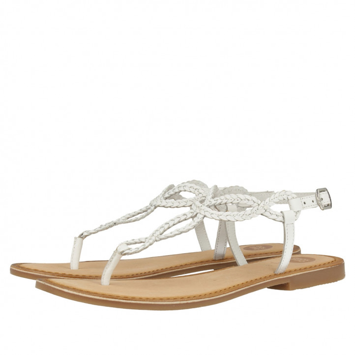 GIOSEPPO DYLANA BLANCO LADIES SANDALS - Querol online
