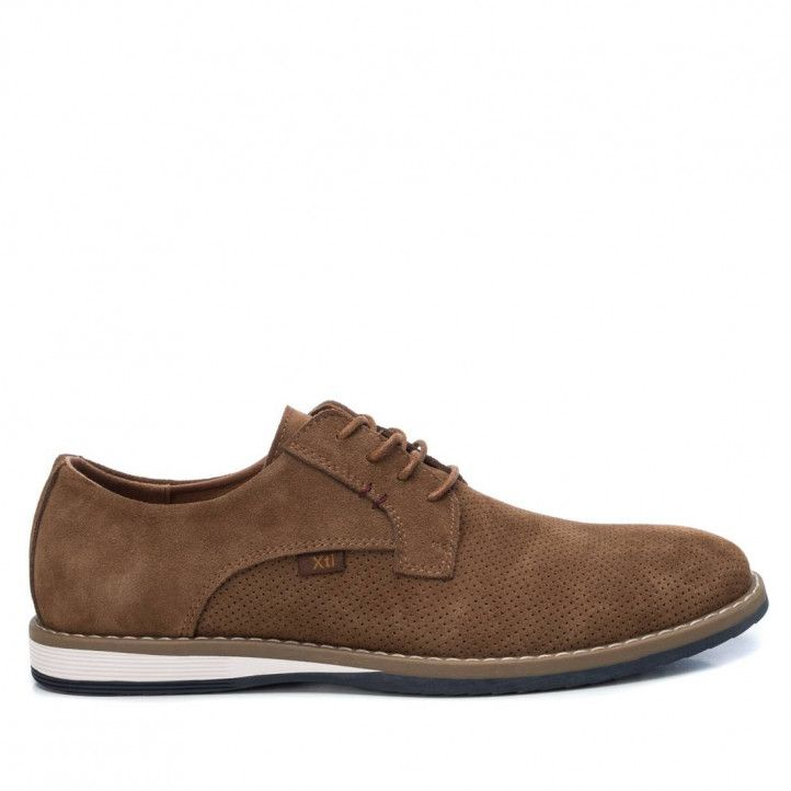 Zapatos vestir Xti marrones perforadas - Querol online