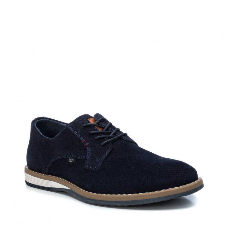 Zapatos vestir Xti azules perforades - Querol online