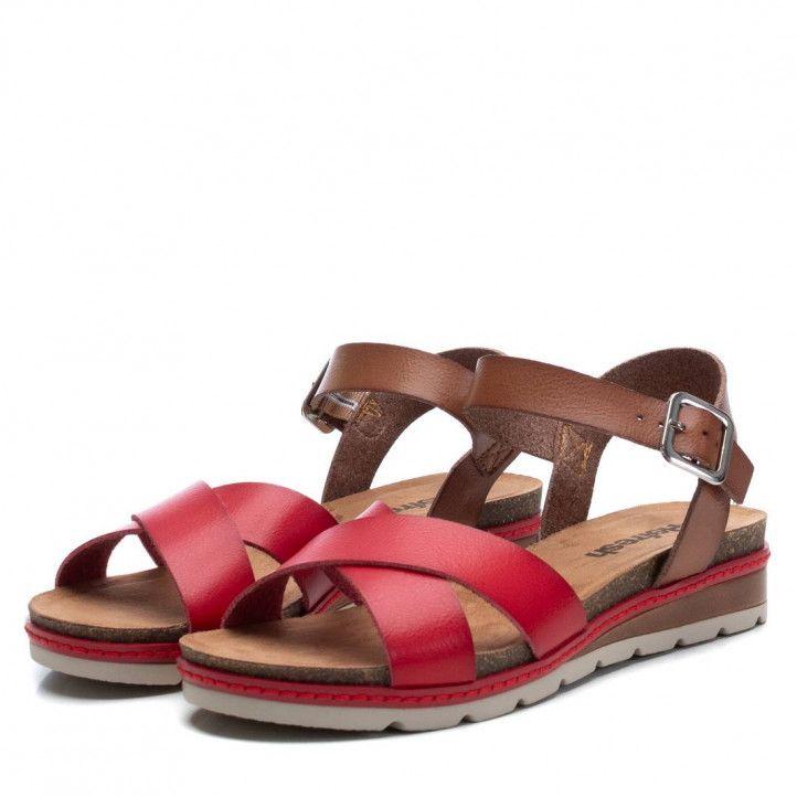 Sandàlies falca Refresh vermelles de tires creuades - Querol online