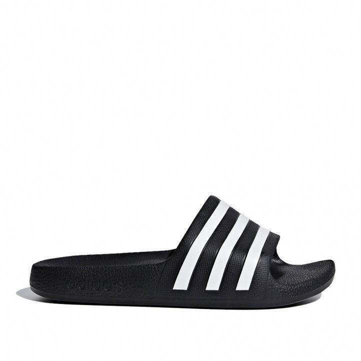 chanclas Adidas negras con rayas blancas kids - Querol online