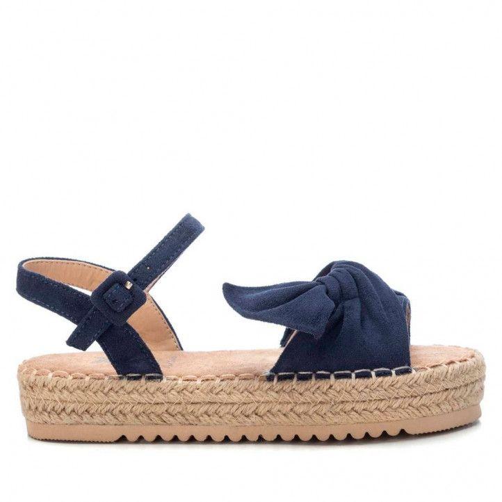 sandàlies Xti amb llaç blau agafada al turmell - Querol online