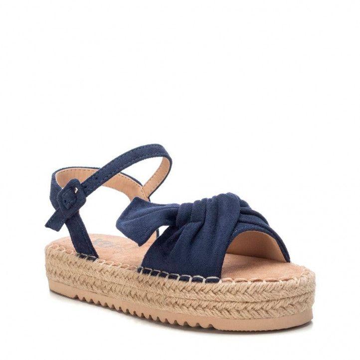 sandalias Xti con lazo azul cogida al tobillo - Querol online