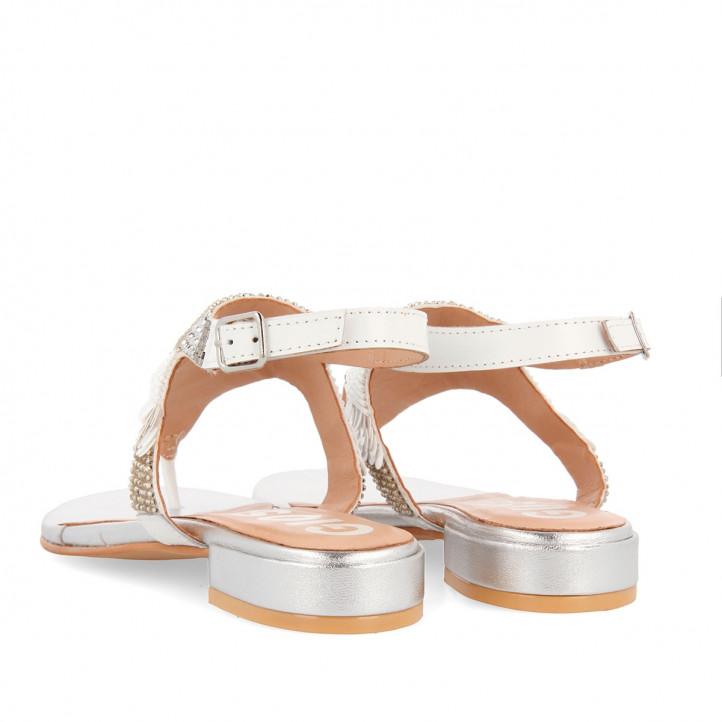 Sandalias planas Gioseppo con pedrería para mujer norlina - Querol online