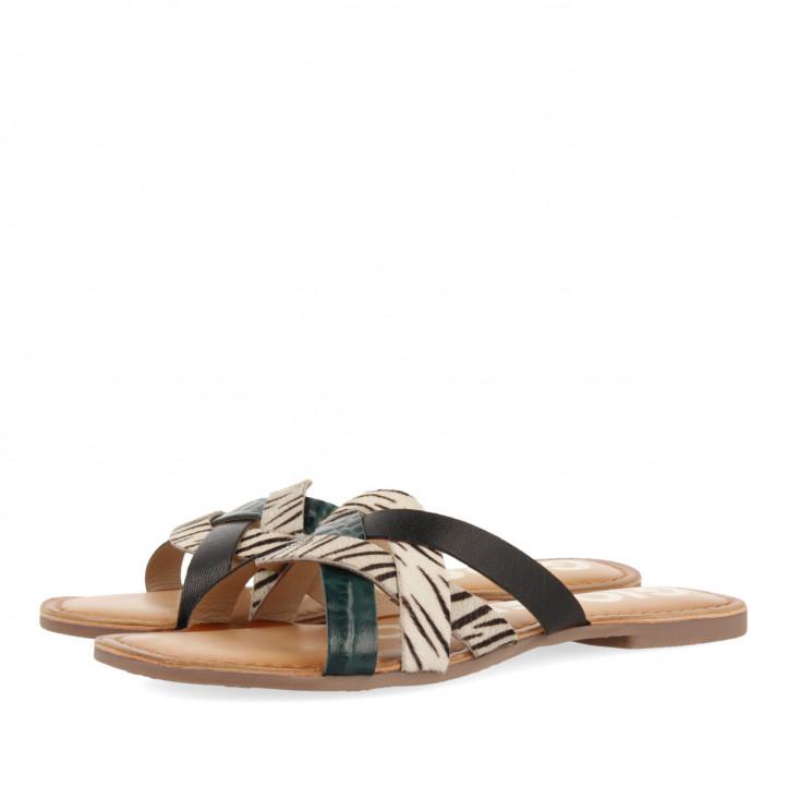 Sandalias planas Gioseppo pala multicolor para mujer stiles - Querol online