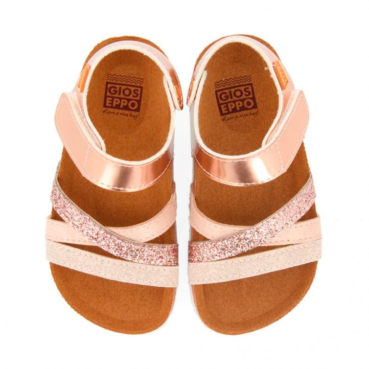 Chanclas Gioseppo en color rosa metalizado - Querol online
