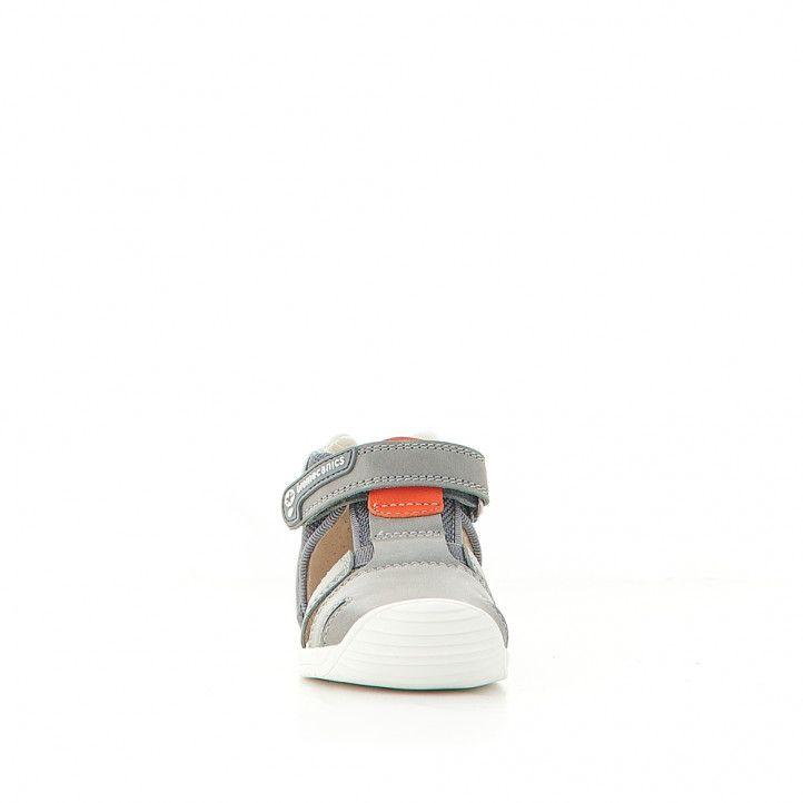 Sandàlies abotinades Biomecanics grisos amb sola en blanc - Querol online