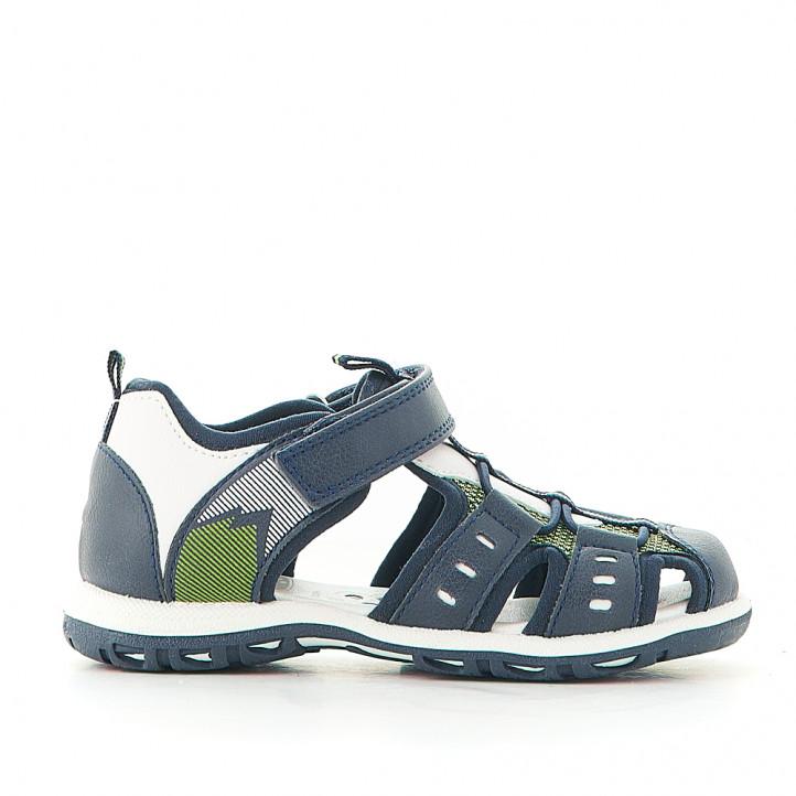 sandalias Chicco azules con fondo blanco - Querol online