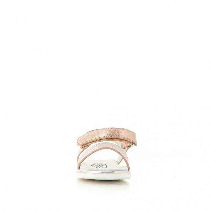 sandàlies CRECENDO rosa metal·litzades agafades al turmell - Querol online