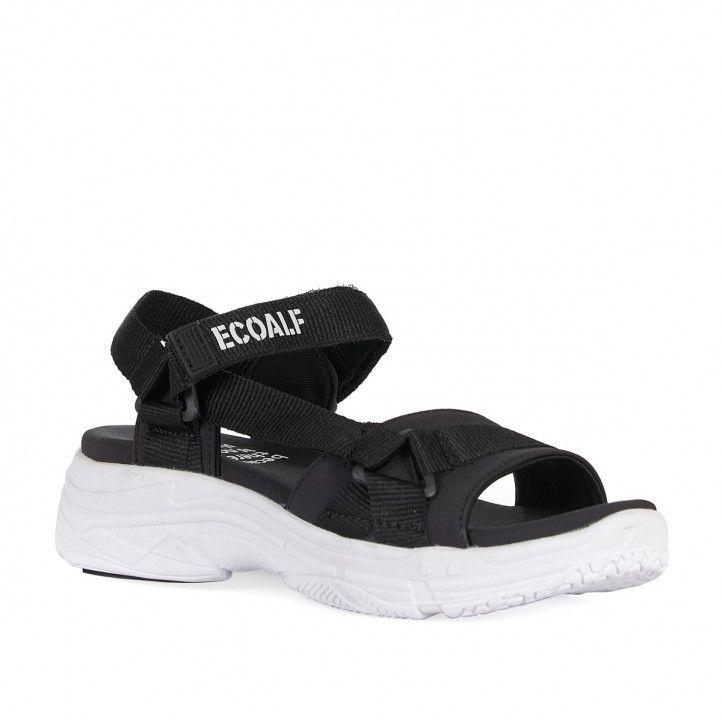 Sandalias planas ECOALF black sofia - Querol online