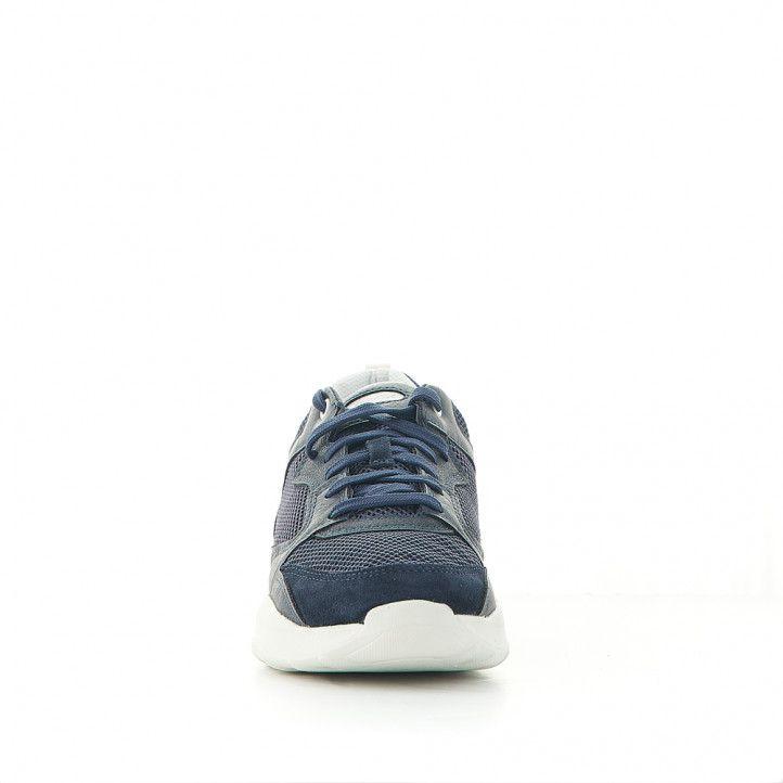 Zapatos sport Geox de piel azules con cordones - Querol online